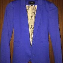 h&m Jacket Blazer Blue Size 8 - 10 Photo