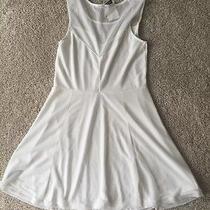 h&m Juniors White Fit N Flare Dress- Medium Photo