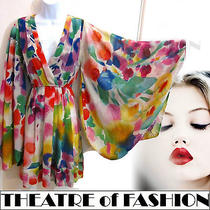 H M Kimono Vintage Dress Garden 70s Wedding Boho Hippie Festival Indian 60s Sexy Photo