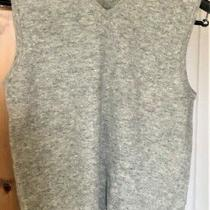 h&m l.o.g.g. Grey v-Neck Sweater Vest Sz M Washable Lambswool  Nylon Blend Photo