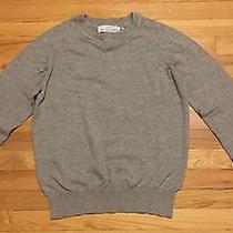 h&m l.o.g.g. Solid Beige 100% Cotton Crewneck Sweater Medium Photo