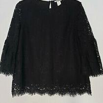 h&m Lace Bell Sleeves Top Size 4 Photo