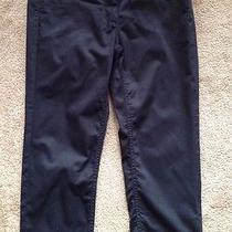 h&m Ladies Black Sz 10 Pants Low Rise Zipper Cotton Blend Pockets Euc Photo