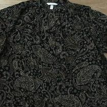 h&m Ladies Loose Fit Black Floral Blouse Size 6 Photo