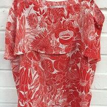 h&m Ladies Red White Summer Floral Strappy Cami Vest Top Size Uk 6 R42-Cf Photo