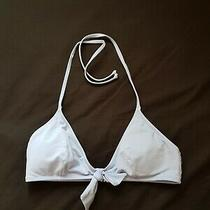 H & M Light Blue Triangle Bikini Top Size 38 Photo