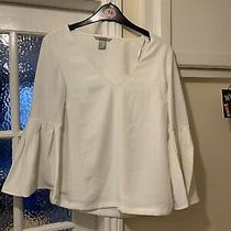 H & M - Long Blouse - Polyester - Flaired Cuffs - Size 4 Photo
