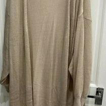 h&m Longline Long Blush Nude Cardigan Size Small  to Fit Size  6 8 10 12 Photo