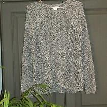 h&m Loose Fit Baggy Chunky Knit Oversized Grey Fleck Jumper Size Xs8-10 Photo