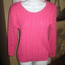h&m Magenta/fuschia Cable Knit Sweatersize S Preowned Photo