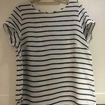 h&m Mama / Maternity Breton / Striped Blouse- Blue / White - Large Photo
