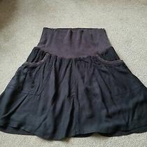 H & M Mama Maternity Clothes Black Short Skirt Size Large With Belly Band Photo