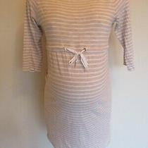 h&m Mama Maternity Grey & White Stripe 3/4 Sleeve Dress Size S 8-10 Photo