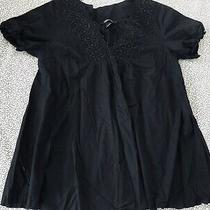 h&m Mama Pretty Black Maternity Blouse/top Size M. Euc Photo