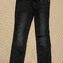 h&m Mama Skinny High Rib Maternity Over the Bump Dark Blue Jeans Uk 10 Photo