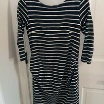 h&m Mama Striped Maternity Dress Size S Fall Winter 3/4 Sleeve Photo