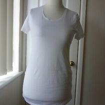 h&m Mama White Short Sleeved Maternity T-Shirt Size S Photo