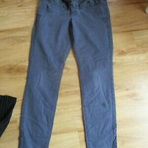 h&m Maternity Navy Blue Cotton Chino Trousers Size 12 Photo