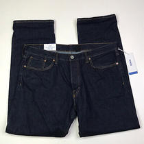 h&m Mens Straight Leg Jeans Men's Size 38 X 32 Dark Button Fly New With Tags Photo
