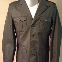 H & M Mens Military Jacket Cotton Solid Photo
