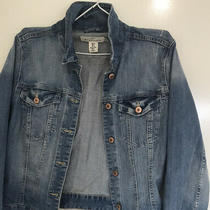 h&m Mid Blue Denim Jacket l.o.g.g. Cotton  Great Shape and Wear Detail  Sz 14 Photo
