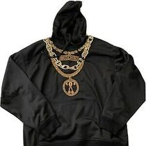 H & M Moschino Black Hoodie Gold Chain Size M Worn Once Photo