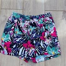 h&m Multi Floral Shorts With Pockets Size Xs Excellent Cindition Photo