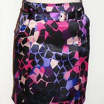 h&m Multicolor Satin Belted Plated Front Skirt Size 4                            Photo