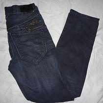 h&m &narrow Slim Leg Narrow Seat Dark Wash Denim Blue Jeans Youth Size 12 Girls Photo
