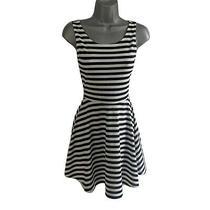 h&m Navy & White Nautical Stripe Mini Skater Vest Summer Dress Uk Size 8 Photo