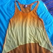 h&m Ombre Shirt Tank Orange and Yellow Size 8 See Through Back Womens Photo