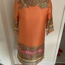 h&m Orange Tunic Mini Dress New With Tags 3/4 Sleeve Size 10 Photo