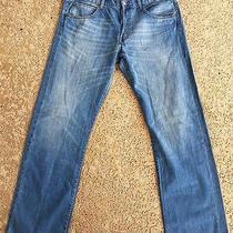 h&m Original Men's Medium Blue Button-Fly Straight Leg Jeans 38x34 Photo