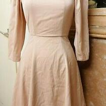 h&m Pale Blush Pink Backless Dress Size 6 Worn a Couple of Times Ruched Shoulder Photo