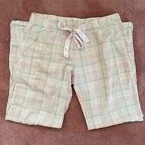 h&m Pink Gray White Plaid Flannel Pajama Pants Size S Photo