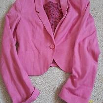h&m Pink Ladies Blazer Jacket Size 8 Photo