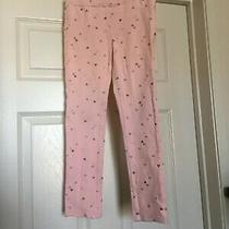 H & M Pink Leggings W Silver Hearts Pockets on the Back Girls 9-10yr Photo