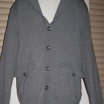 h&m Professor Style Long Button Down Cardigan Sweater W Elbow Patch Sleeves    S Photo