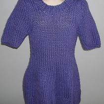 h&m Purple Cable Knit Acrylic Wool Alpaca Sweater Dress   Photo