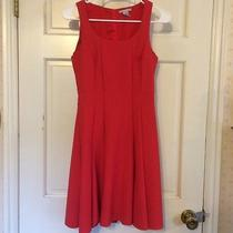 h&m Red Fit Flare Work Dress 4 Photo