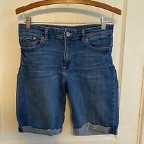 h&m Regular Waist Denim Shorts Size 6 Womens Cuffed  Euc  D67 Photo