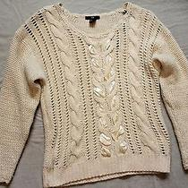 h&m Ribbon Cable Knit Sweater Xs Photo