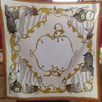 h&m Scarf Lion Tiger Cheetah 21x21in Photo