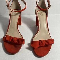 h&m Shoes  Suede  Orange Ankle Strap Block Heel Sandal 40 /8us Photo