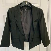 h&m Short Blazer Jacket Size 12 Eu 40 in Black Photo
