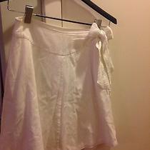 h&m Size 6 White Breezy Skirt Bow Tie Waist Photo