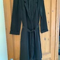 H & M Size 8 Black Tie Waist Black Leightweight Jacket in Great Condition Photo