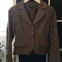 h&m Size 8 Euro 36 Brown Blazer Jacket (E15) Photo