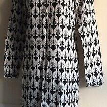 H & M Size 8 Long Sleeve Dress Black/ White Photo