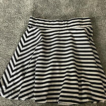 h&m Skirt Mini Blue & White Size Xs or 26 Ins Elastic Waist Length 13 Ins Summer Photo